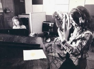Tony Cahill recording with Python Lee Jackson.